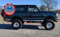 1987-1996 Ford Bronco Vus Pleine Grandeur Chrome Rocker Panneau De Garniture En Acier Inoxydable 3