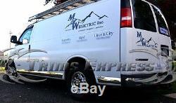 1998-2015 Express De Chevrolet / Gmc Savana 3dr Pleine Van Chrome Trim-rocker Panneau 7pc