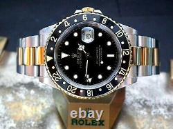 2000 En Acier Et Or Rolex Oyster Gmt Master II 16713 Ensemble Complet Montre D'investissement