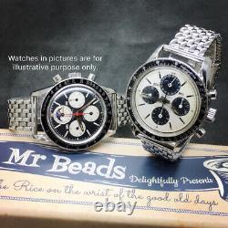 20mm Perles De Riz Bracelet En Acier Inoxydable Poli Complet Pour Vintage Watch Bor