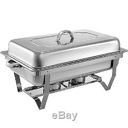 4 Pack Catering En Acier Inoxydable Chafer Chafing Vaisselle Sets 9 Qt Full Size Buffet