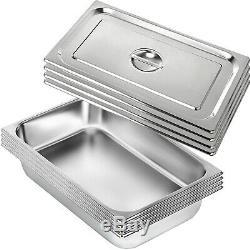 4-pack Full Size 4 Deep Silver En Acier Inoxydable Hôtel Vapeur Table Casseroles