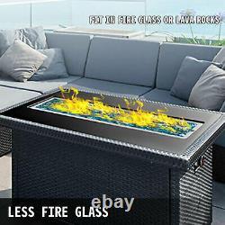 61 X 8 Drop-in Gas Fire Pit Pan Brûleur Fire Bowl Propane Pour Une Couverture Complète