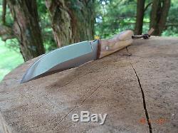 7 1/8 Longueur Totale Muela Couteau À Lame Fixe En Bois D'olivier Poignée 440c Lame Leath