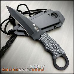 7 Combat Militaire Tactique À Lame Fixe Neck Boot Couteau Avec Gaine Camping Edc
