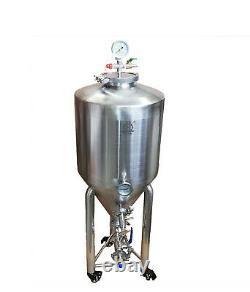 Acier Inoxydable 34l Pleine Fermenteur Conique Presurized Fermentation Bière Navire