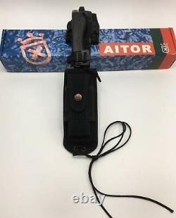 Aitor Zero Survival Bushcraft Couteau Fixe Avec Gaine Molle - Firesteel Nouveau 16127