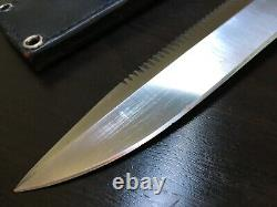 Al Mar Seki Japan Rare Sere Attack Fixed Blade Knife With Sheath Case Us Special