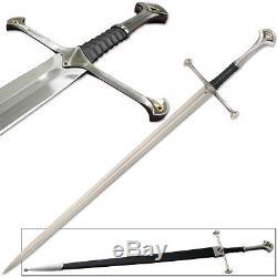 Anduril Épée Pleine Tang Seigneur Des Anneaux Strider Ranger Avec Fourreau Narsil Lotr