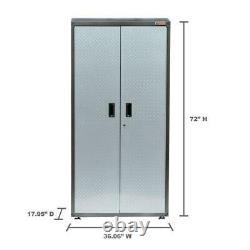 Armoire À Outils De Stockage De Garage En Métal Acier Chemical Wall Locker 6ft Étagères