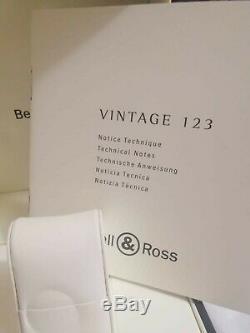 Bell & Ross Vintage Br123 Automatique Des Papiers De Boîte Ensemble Complet Men Tag