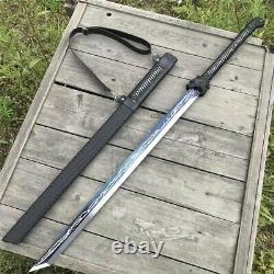 Blue Dragon Samurai Sword Noir Ninja Bushido Katana Épée De Lame Fixe