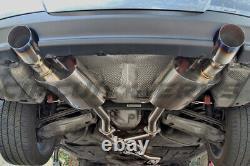 Bmw 335i E90 E92 07-10 Twin Turbo N54 Échappement Complet De Catback Avec Tips Burnt