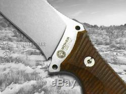 Boker Arbolito Buffalo Âme 42 Couteau À Lame Fixe Guayacan Bois D'ebène 02ba316w