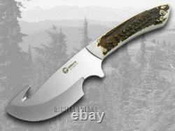 Boker Arbolito Fixe Blade Gut Hook Knife Genuine Deer Stag 02ba510hh