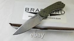 Bradford Knives Guardian 3 Od Vert Aeb-l Steel Fixed Blade Knife 3fe002a