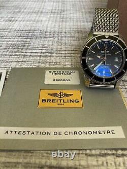 Breitling A17321 Superocean Heritage 42mm Cadran Noir Montre Kit Complet