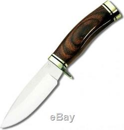 Buck Knives 192 Vanguard Noyer Dymondwood Poignée Fixe Lame De Couteau 192brs