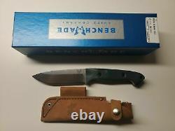Bunchmade 162 Bushcrafter Fixe 4.43 S30v Couteau À Lame Satinée, Poignées G10 Vert