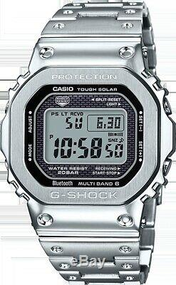 Casio G-shock Full Metal Steel Limied Silver Edition Japon Montre New Gmwb5000d-1