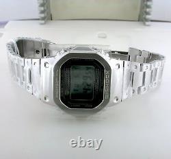 Casio G-shock Gmw-b5000d-1 Modèle Bluetooth Full Metal Solar Square Watch Steel