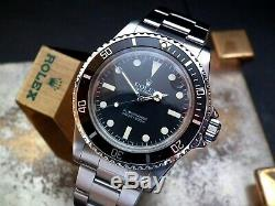 Collector Condition 1984 Rolex Oyster Submariner 5513 Maxi Mark V Dial Full Set