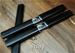 Couteau Japonais Fabriqué À La Main Acier Traditionnel Lame Droite En Bois Poignée Tanto S