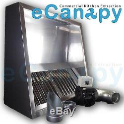 Cuisine Professionnelle Hotte Aspirante Extraction Kit Complet 1200mm Moteur, Conduit, Raccords
