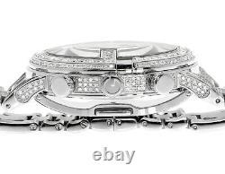 Custom Mens White Pvd 101 G Real 44 MM Full Diamond Gucci Ya101334 Montre 10.0 Ct