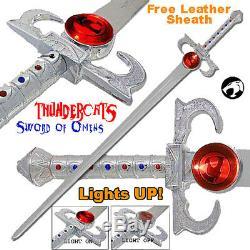 Deluxe Thundercats Lion-o Épée De Présages Réplique Avec Lumiére Et Off