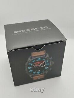 Diesel Hommes Pleine Garde 2,5 48mm Cadran Noir En Cuir Smartwatch Dzt2009