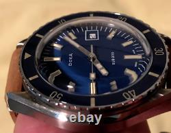 Doxa Sub 200 Caribbean Blue Diver Full Kit With Extra Strap Free Shipping Vidéo
