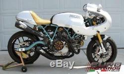 Ducati Paul Smart Sport Classic 1000 Zard Échappement Complet Du Système En Céramique Noire + 4hp