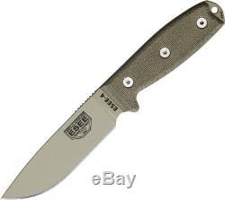 Esee Modèle 4 Couteau Plain Edge Es-ko-4p-dt 9 Global. Texturé Tan 4 1/2 Désert