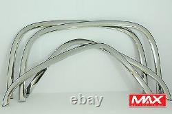 Ftch204 07-13 Chevy Silverado 1500/2500 Hd Poli Acier Inoxydable Fender Trim