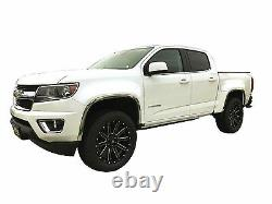 Ftch246 2015-2021 Chevy Colorado Gmc Canyon Polished Stainless Steel Fender Trim