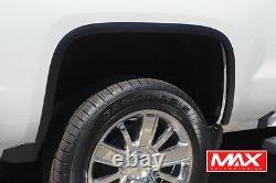 Ftch805 2014-2015 Chevy Silverado 1500 Matte Noir Acier Inoxydable Fender Trim
