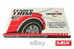 Ftgm847 07-13 Gmc Sierra 1500 Matte Fender Noir Acier Inoxydable Garniture