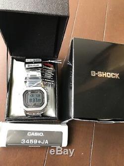 G-shock Argent Métal Plein 35ème Limitée Gmw-b5000d-1jf Casio Ems F / S Nouveau
