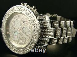 Hommes 19.25 Ct Full Joe Rodeo Junior Diamond Watch Jju36