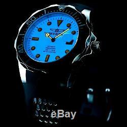 Hommes Invicta Cadran Lumineux Plein De Grand Diver Auto Bracelet Noir Ss Montre 300mm