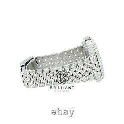 Hommes Rolex Datejust II 126300 Acier Inoxydable 41mm Montre Pleine Diamant 25,5ct