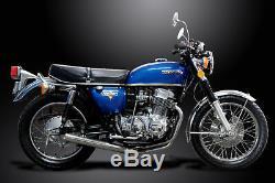 Honda Cb750k Sact 1969-1976 Pleine 4-1 Échappement En Acier Inoxydable Classique Droit