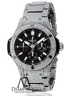 Hublot Big Bang 44mm Complet Glacé Diamants Véritables Montres De Luxe. À L'intérieur De La Vidéo