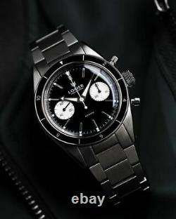 Inverse Lorier Gemini Chronographe Noir Panda St19 Mouvement, Kit Complet