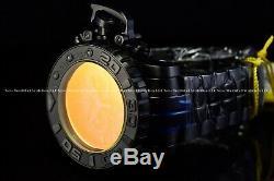 Invicta 70mm Masculine Complète Sea Hunter Soleil Dans La Nuit Noir Orange Suisse Cadran
