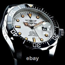 Invicta Homme 47mm Grand Diver Automatique Nh35a Full Lume Dial Black Strap Watch
