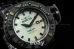 Invicta Hommes Pleine Mer Hunter Noir Automatique Diamant Accent Blanc Cadran