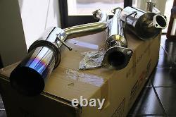 Jdm Srs Pleine En Acier Inoxydable Catback Echappement 04-09 Mazda 3 4dr Bleu Burnt Tip