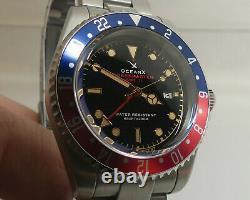 Kit Complet Oceanx Sharkmaster Gmt II Sms-gmt-211 Pepsi